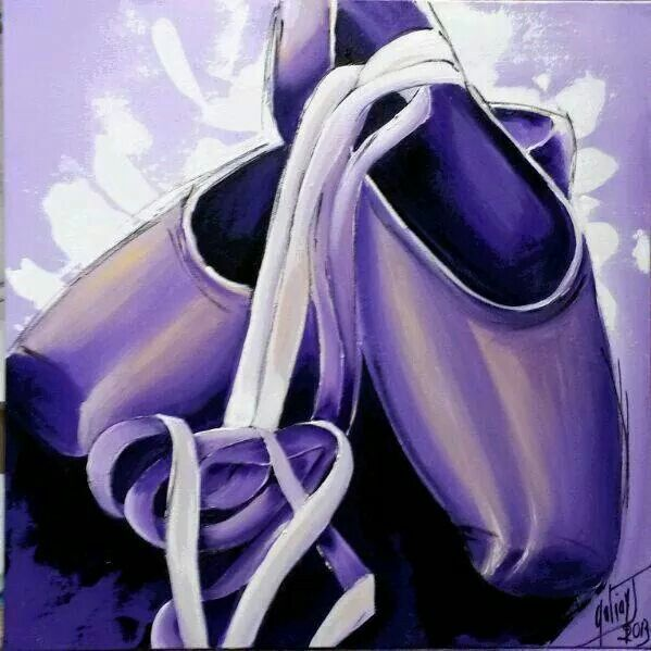 Chaussons mauves. #juliegaliay http://galiay-julie.dictionnairedesartistescotes.com/ http://galiayjulie.weebly.com/