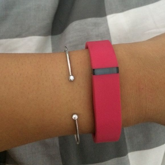 Fitbit wristband (Fitbit not included) Super cute hot pink Fitbit wristband, never used, just came in a pack I purchased. Fitbit Accessories