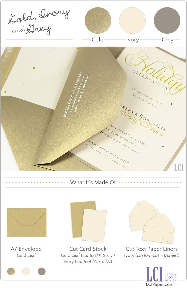 34 best greeting cards inspiration images on pinterest greeting holiday party invite made with curious metallics gold leaf and popset ivory papers kristyandbryce Image collections