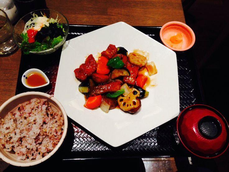 真鱈と野菜の黒酢庵定食@大戸屋