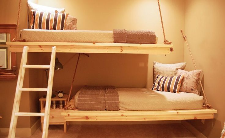 To make them look even more casual, you can have hanging bunk beds