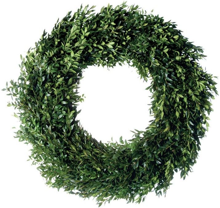 Fresh Round Estate Boxwood Christmas Wreath-Available in Four Different Sizes www.wellappointedhouse.com
