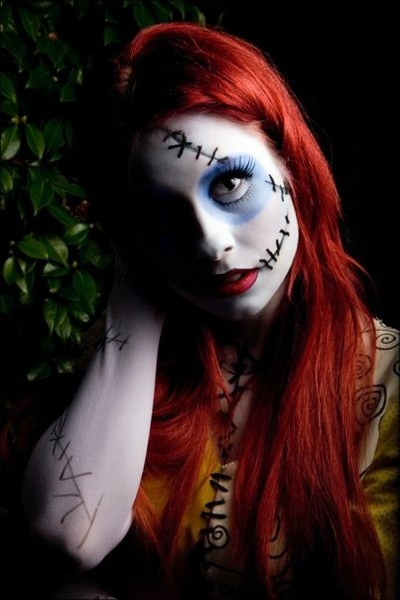 Sally makeup for Halloween wondrfullyweird