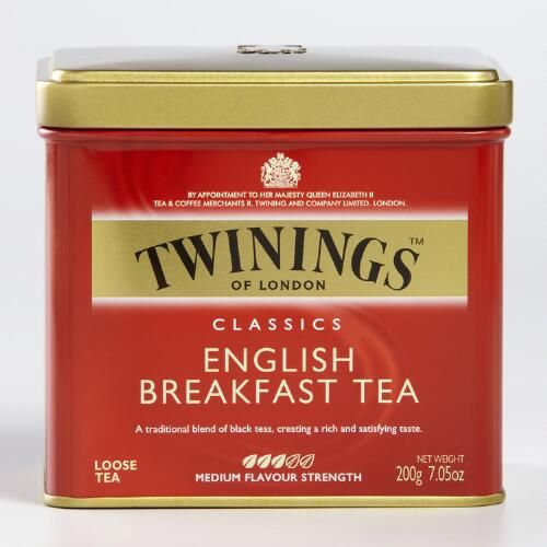One of my favorite discoveries at WorldMarket.com: Twinings English Breakfast Loose Leaf Tea Tin