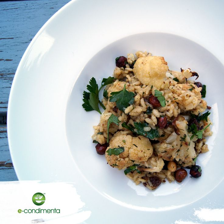 Risotto z pieczonym kalafiorem | Baked cauliflower risotto  #vege #risotto #healthyfood #econdimenta #szybkiegotowanie #healthycooking