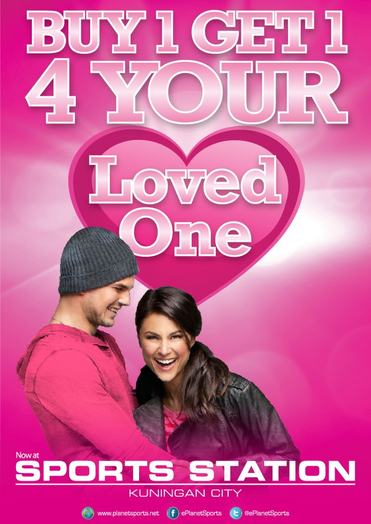 VALENTINE'S DAY SPECIAL  Buy One Get One Free. One Day Only on 14 February 2014 REEBOK, NEW BALANCE, CONVERSE, PUMA, SKECHERS, OAKLEY, TIMEX, SPEEDO, AIRWALK, LOTTO  Don't miss it! Buy One for your loved one…!