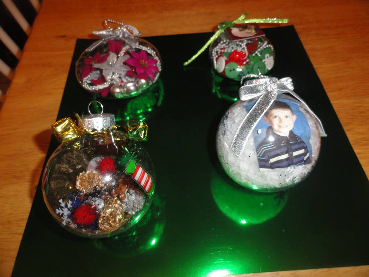 Christmas Ornament Craft Clear Balls : Clear plastic ornaments craft ideas