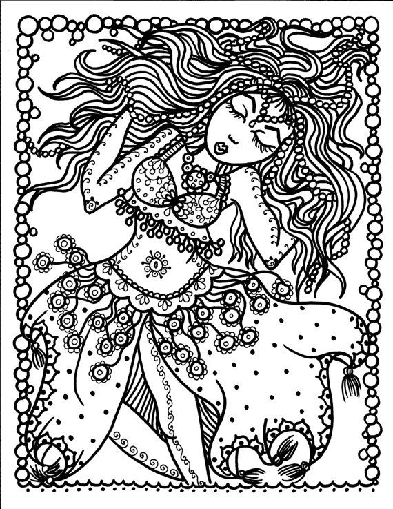 Belly Dancer By ChubbyMermaid Coloring Book Pages