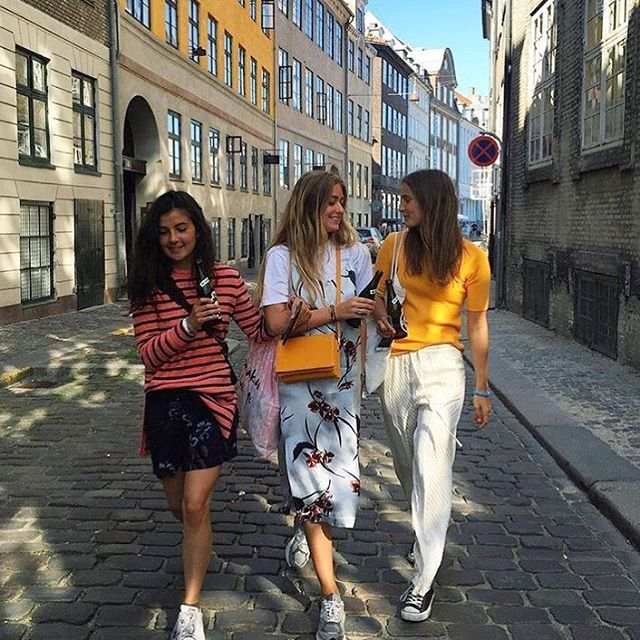 Ganni Girls at Distortion in the streets of Copenhagen #ganni #gannigirls