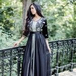 Black Moroccan Caftan Dress (6)