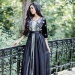 Black Moroccan Caftan Dress (6)