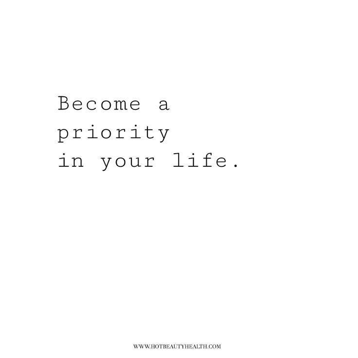 Werden Sie zu einer Priorität in Ihrem Lebensange…