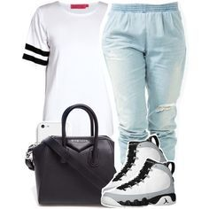 baddie outfit with wolf grey jordans - Google Search