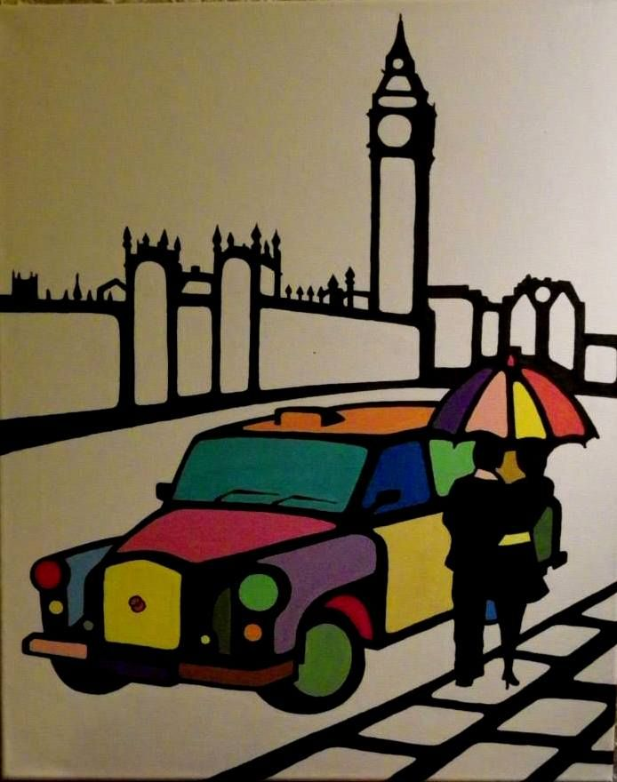 London. 40X50cm, acrylic on canvas.