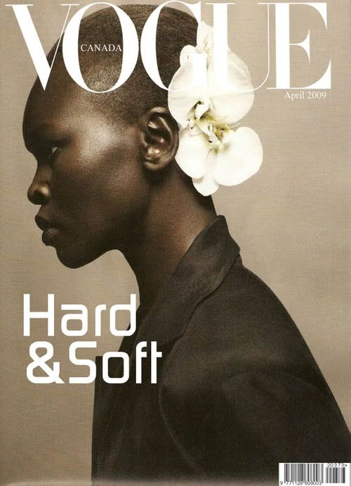 """Nice pic. Good composition. It made me think though. A dark skinned woman with short hair is """"Hard""""? I'm not even gonna go there with the flower being white, I can acknowledge the flower being soft but I am pretty sure they would not have used Kate Upton as the """"Hard"""" part of the picture. In the large scheme of things C'est La Vie, it's just an observation."""