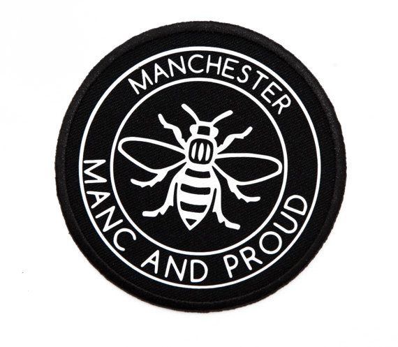 Manc and Proud Manchester Bee PATCH1 Iron On Patch