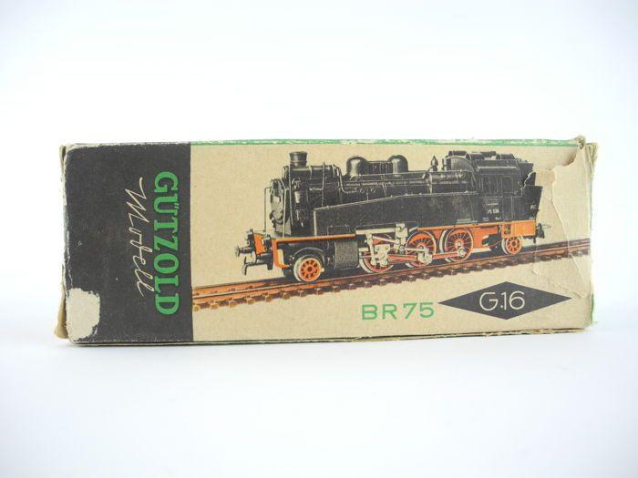 Gützold H0 - 190/G16/1 - stoom locomotief BR 75 DR [106]  Gützold H0 - 190/G16/1 - stoom locomotief BR 75 DRBewerking-ID: 75582De locomotief werd met succes getest.Buffer klauwen en andere onderdelen ontbreken.Foto's zien zichzelf als onderdeel van de beschrijving  EUR 17.00  Meer informatie