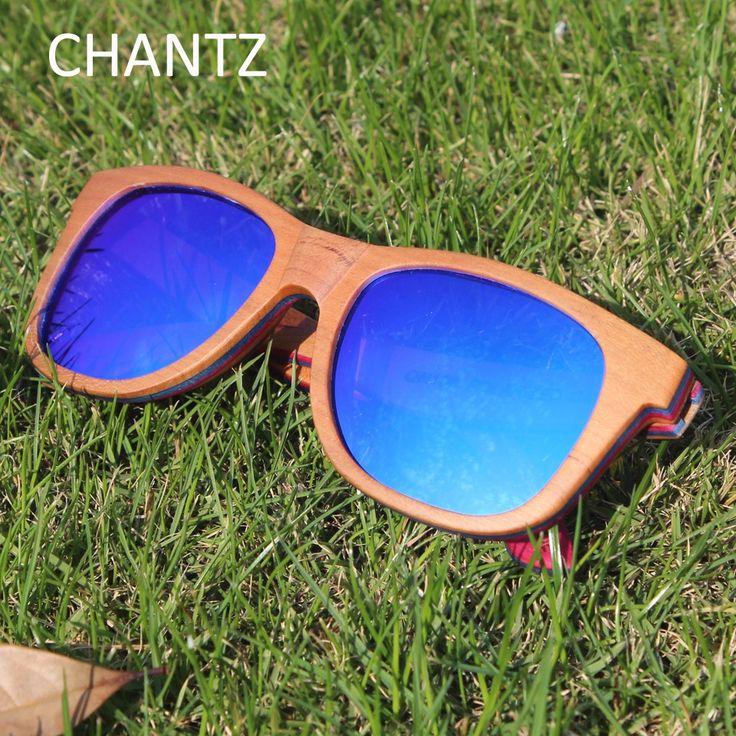 Vintage Skateboard Wood Sunglasses Polarized Men Brand Wooden Sun Glasses Women Driving Shades UV400 Lentes De Sol Mujer Hombre
