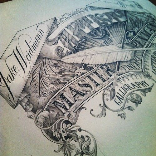 Utterly in love with this. I would give anything to have this guy's talent and taste.    Typeverything.com - All pencil by Jake WeidmannJakeweidmann, Jake Weidmann, Hands Drawn Typography, Hands Drawn Types, Hands Letters, Typography Design, Hand Drawn, Pencil Art, Hand Lettering