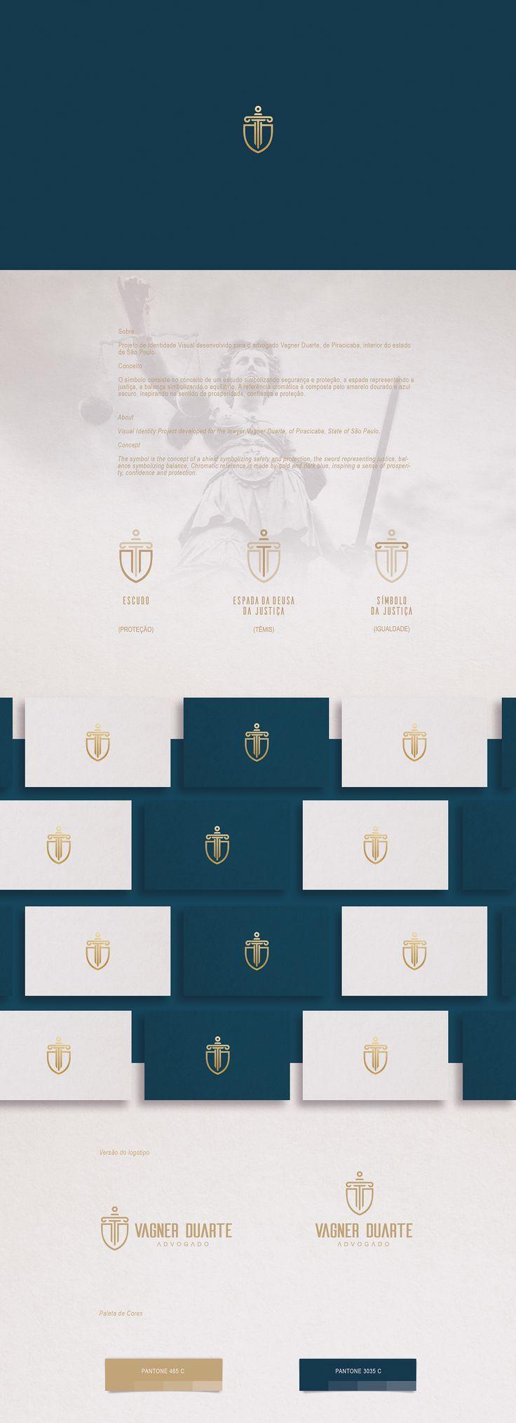 SobreProjeto de Identidade Visual desenvolvido para o advogado Vagner Duarte, de Piracicaba, interior do estado de São Paulo.Conceito O símbolo consiste no conceito de um escudo simbolizando segurança e proteção, a espada representando a justiça, a ba…