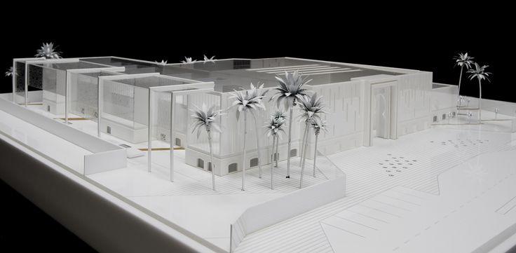 Taibah School.Realizada para C.M.D.Maqueta de PMMA.Maqueta de Arquitectura.Oceanonaranja.