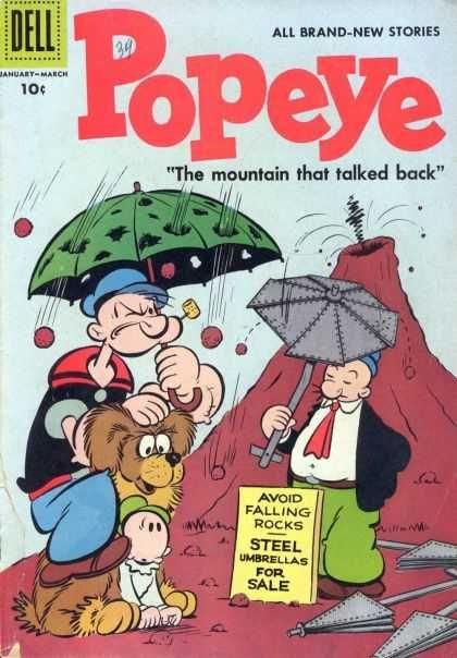 Popeye & Whimpie w umbrellas