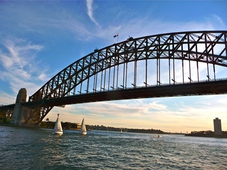 """LocumLENS winner! Congratulations to Katie Freyfogle, MD, who took top honors with this shot of the Sydney Harbour Bridge (the """"Coat Hanger"""" as it's nicknamed by the Aussies)."""