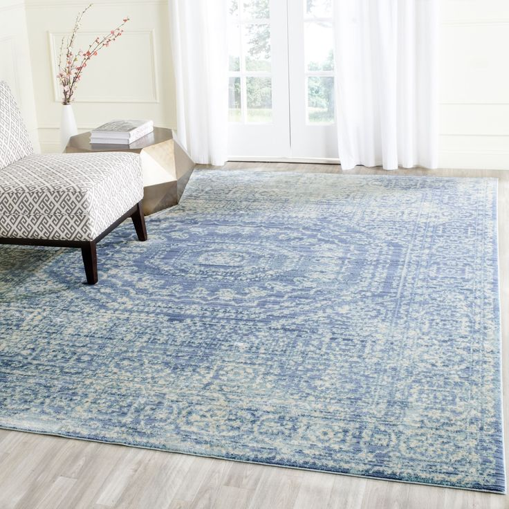 Shop For Safavieh Valencia Blue/ Multi Polyester Rug X Get Freeu2026