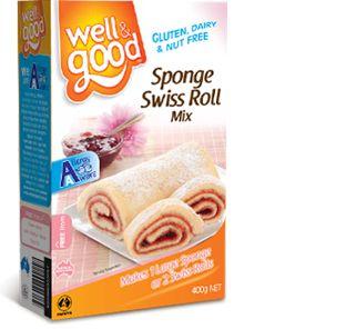Well and Good Gluten Free Sponge Swiss Roll Mix. #wellandgood