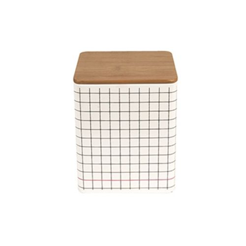Grid Print Storage Tin - Large