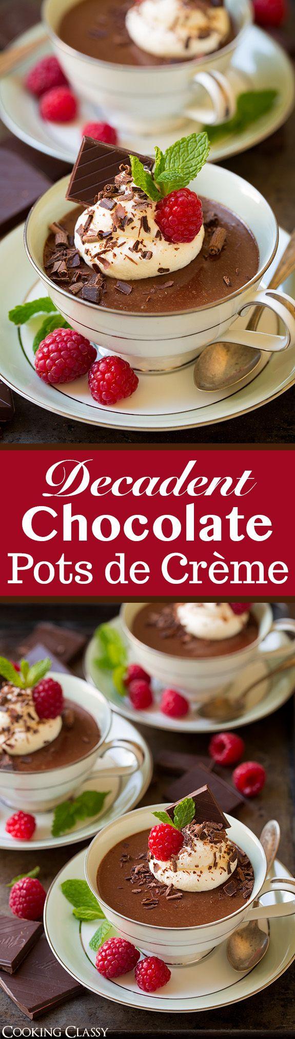 Chocolate Pots de Crème | Recipe | Pot De Creme, Pots and Chocolate