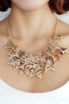 Star Bib Necklace from en.aura-j.kr // $25.20