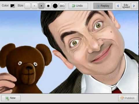mr bean speedpaint draw bean and ted draw