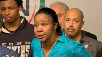 Eric Garner's Wife Lashes Out At Cop Who Strangled Her Husband Eric Garner Widow photo