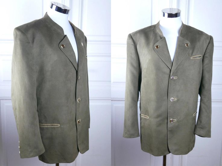 Vintage Austrian Trachten Faux Suede Jacket, Light Brown and Tan Traditional Walking Jacket, Octoberfest German Folk Clothing: Size 48 US/UK by YouLookAmazing on Etsy