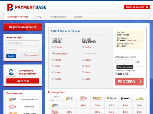 Reliable e-currency exchanger  https://www.paymentbase.com  #Exchange, buy and sell #ecurrency at best rates - #PaymentBase