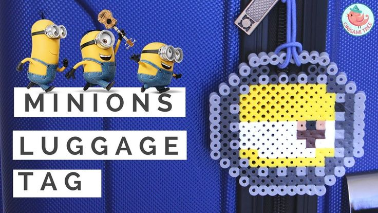 Perler Beads DIY Minions Luggage Tag! Easy Fused Melting Beads Project!