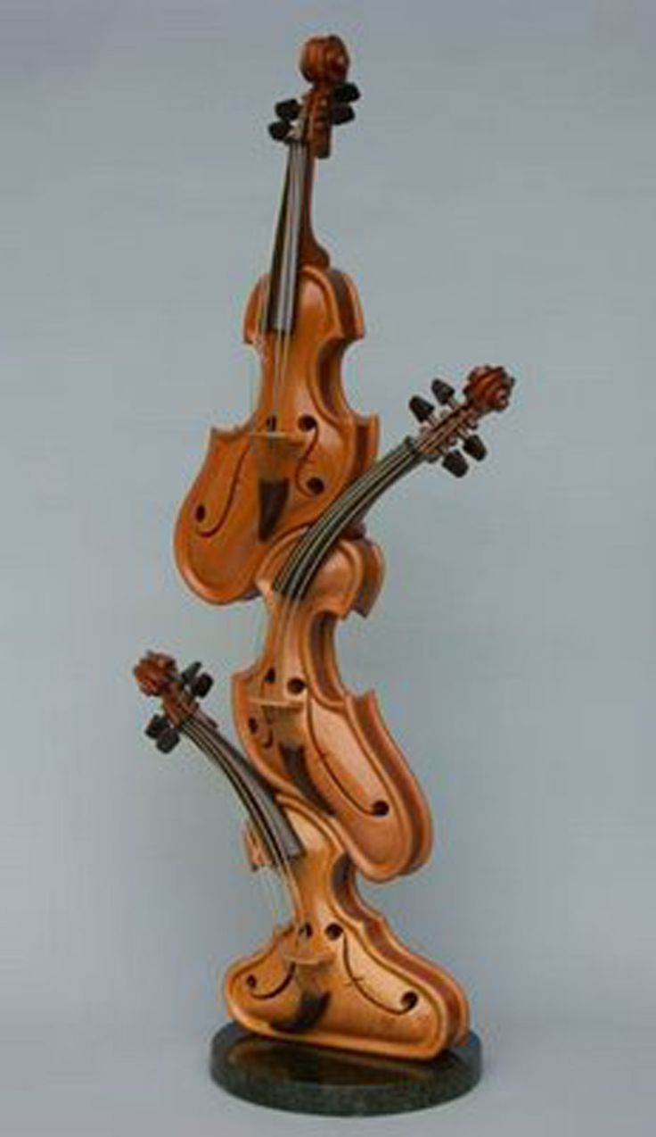 Violins mashed together! That is really cool!
