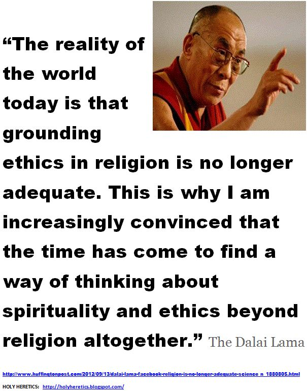 Dalai Lama Just Call for an End to Religion - not necessary - Buddhism