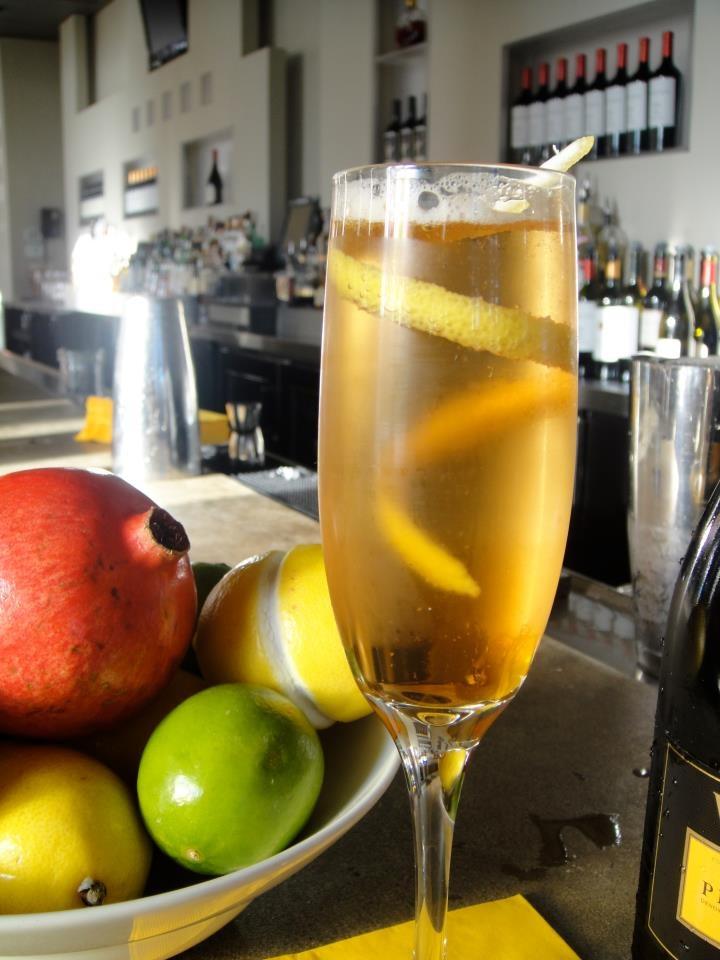 Pom Royale...Hennessey VSOP, Valdo Prosecco, House-made Pomegranate Syrup