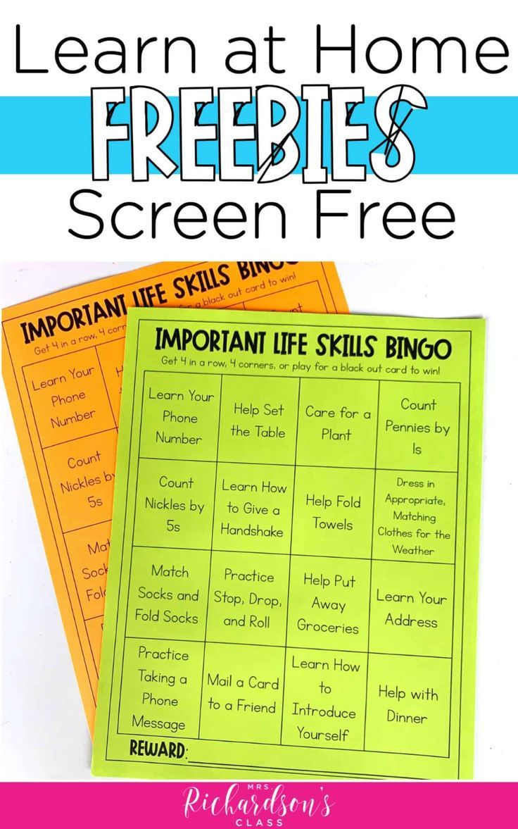 6 Screen Free Activities To Support Distance Learning Free Downloads Screen Free Activities Distance Learning Free Activities Fun reading activities for online