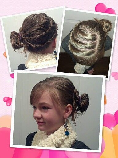 Very cute and simple hairstyle for pre-teens!!