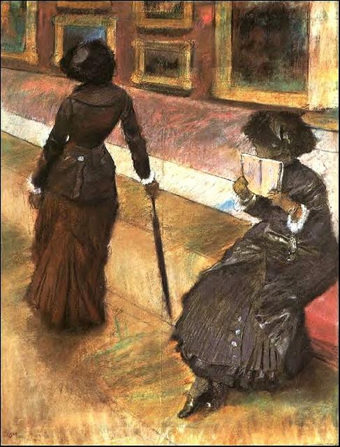 Degas, Edgas (1834-1917) - Mary Cassatt at the Louvre