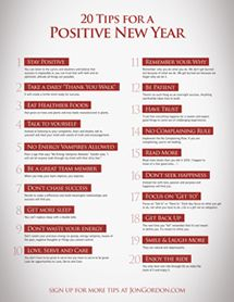 20 Tips for a Positive New Year