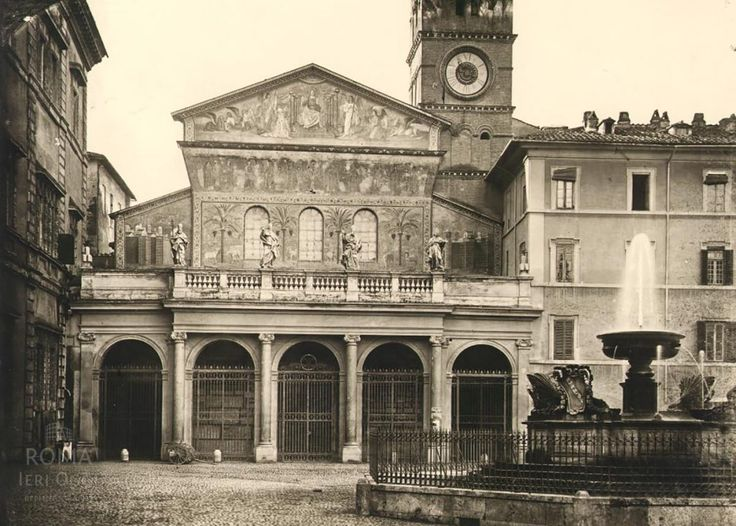 Piazza di Santa Maria in Trastevere (1870 ca)Roma Ieri Oggi   Roma Ieri Oggi