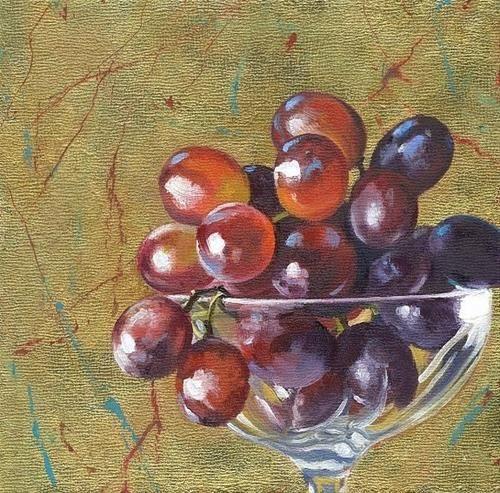 """Gilded Grapes"" - Original Fine Art for Sale - © Connie McLennan"