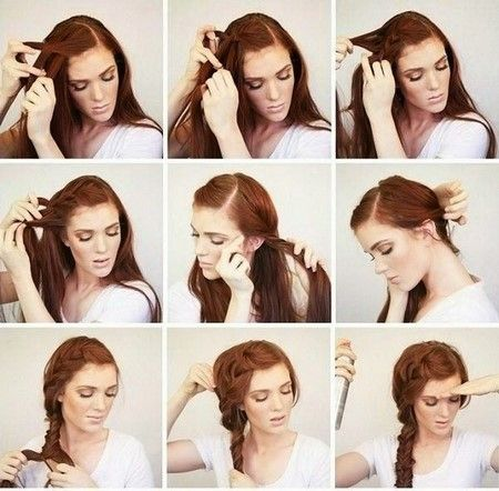 Fast Hairstyles in Five Minutes 2018-2019: a photo of the idea of ​​a simple hairstyle