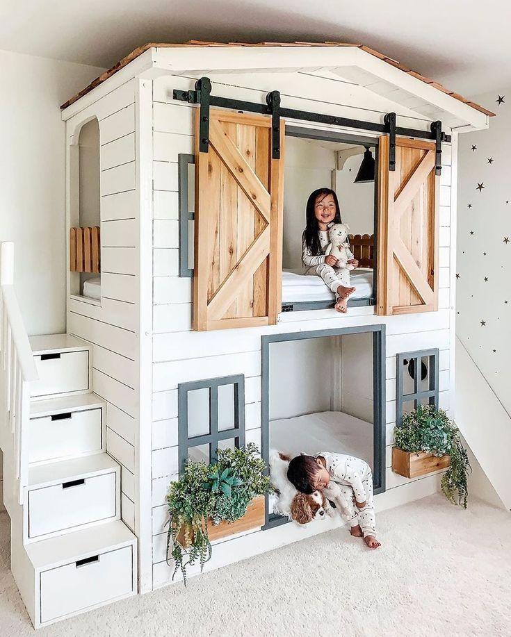 """Verspieltes und süßes Kinderzimmer! """"Bunk Project"""" entworfen von  # Kinderzimmer & Baby"""