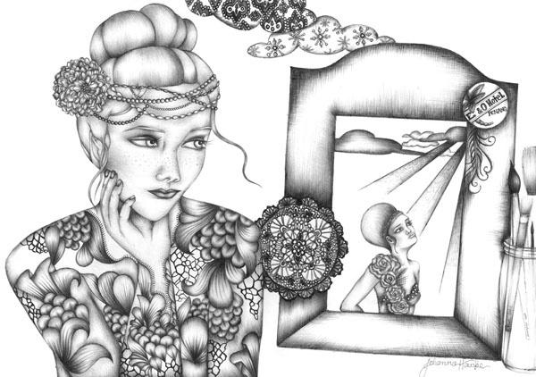 'Grey Scales' Illustration by Johanna Hawke