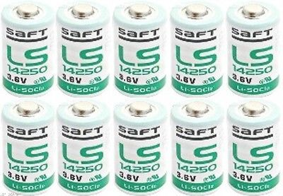 Single Use Batteries: 10 X Saft Ls 14250 3.6V Lithium Battery 2016 Date Code *Authorized Distributor* BUY IT NOW ONLY: $34.99